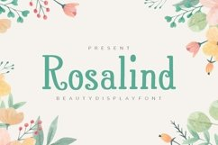 Rosalind - Beauty Display Font Product Image 1