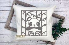 Panda paper cut designs. SVG / DXF / EPS / PNG Files Product Image 2