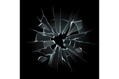Broken window glass. Broken windshield, shattered glass or c Product Image 1