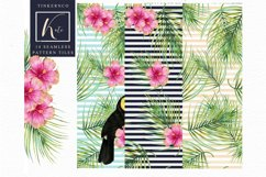 Tropical summer Seamless Travel pattern tiles. Product Image 3