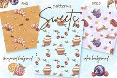 Sweets and Desserts. Sketch stickers. Part 2 Product Image 7