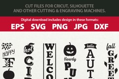 Fall / Autumn porch sign bundle - SVG, EPS, JPG, PNG, DXF Product Image 3