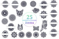 Mandala SVG Cut File Bundle II - 25 files Product Image 4