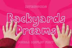 Backyards Dreams Font Product Image 1