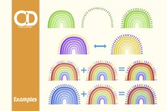 8 Felt Tip style Rainbows with Rays Product Image 2