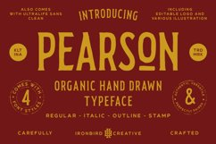 Pearson Typeface- 4 Fonts! & EXTRA Product Image 1
