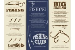 Fishing brochure or banners Product Image 1