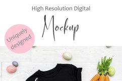 Mockup - Black Toddler/Kid's T-shirt Easter Photography Product Image 4