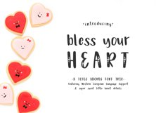 Bless Your Heart Hand Lettered Font Trio w/ Hearts Product Image 1