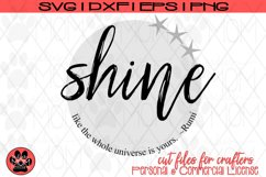 Shine Like the Universe is Yours - Distressed/Smooth - Rumi Product Image 2