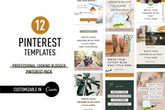 Professional Looking Blogger Pinterest Pin Pack | Canva Product Image 1