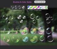 Transparent Bubble overlays  brushes  styles Product Image 4