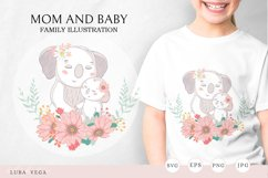 Family illustration / Mom and baby Product Image 1