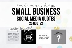 25 x Grey, Black & White Online Business Social Media Quotes Product Image 1