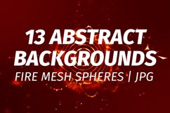 13 Red Abstract plexus backgrounds Product Image 1