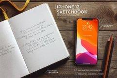 iPhone 12 SketchBook Mockup Product Image 1