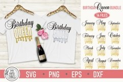 Birthday queen svg   Birthday Squad svg   Women's birthday Product Image 1