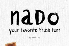 naDo Font | The Brush Font Product Image 1