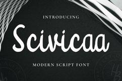 Web Font Scivicaa Font Product Image 1