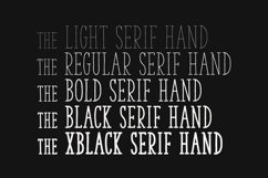 The Serif Hand Family Product Image 4