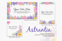 Astrantia - Digital Watercolor Floral Flower Style Clipart Product Image 4