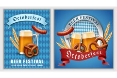 October fest beer banner concept, realistic style Product Image 1