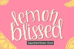 Lemon Blissed- Smooth Cut-Friendly Handwritten Font Product Image 1