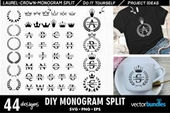 Best Seller Monogram svg maker with split text Product Image 1