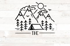 Last Name Family Sign Camping Tent svg Product Image 2