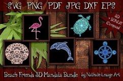 3D Mandalas Beach Friends Bundle SVG and Sublimation Files Product Image 1