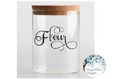 Flour Label, Kitchen, Pantry, Cut File Product Image 2