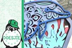 Dolphin SVG layered multi layer mandala sea animal nautical Product Image 5