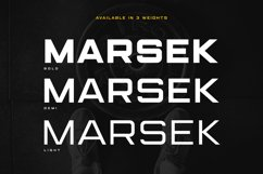 (NEW) Marsek - A Solid Display Font Product Image 2