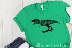 Skateasaurus - Dinosaur on Skateboard for Skateboarding Fans Product Image 2