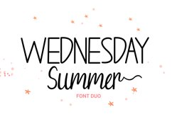 Wednesday Summer - Font Duo Product Image 1