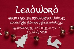 Leadword Font Product Image 2
