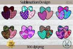 Sublimation Designs for Shirts PNG Bundle- Valentine Hearts Product Image 2