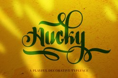 Hucky Decorative Font Product Image 1