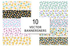 10 seamless summer patterns, 10 banners Product Image 8