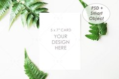 "5"" x 7"" Card Mockup / Invitation Card / Save the date Card Product Image 1"
