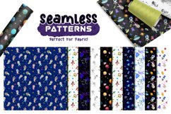 Watercolor Space Pattern Set Product Image 6