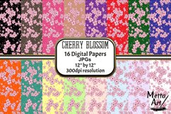 Cherry Blossom - 16 Digital Papers/Backgrounds Product Image 1