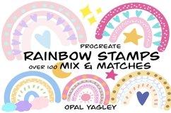Rainbow Procreate Stamps / Doodle Procreate Brushes Product Image 1