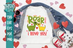 Roar Means I Love you SVG / Dinosaur SVG / Valentine SVG Product Image 1