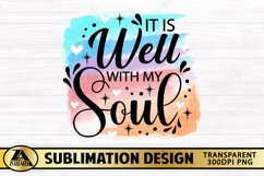 Inspirational Quote PNG Watercolor Christian Sublimation Product Image 4