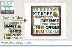 BUNDLED Football Cutting Files KWD006 Product Image 2