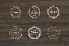 24 Vintage Circle Badges Product Image 5