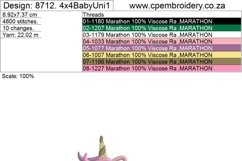 Baby Unicorn No1 Jumping Applique Product Image 5