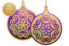 Christmas Balls Ornament Clipart Set Product Image 2
