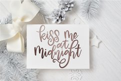 New Year SVG - Kiss Me at Midnight Hand-Lettered Cut File Product Image 1